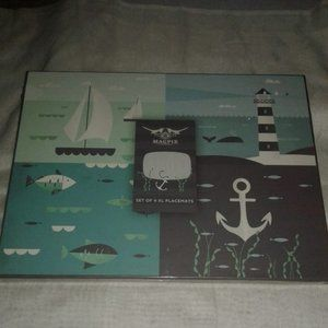 MAGPIE NAUTICAL PLACEMATS NEW